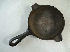 Antique Cast Iron Wagner Ware 1050 D Miniature Frying Pan Ashtray Skillet Vtg