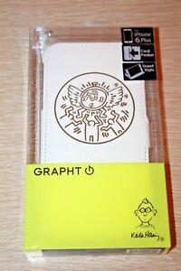 Keith Haring GRAPHT Flip Folio Cover Case Apple iPhone 6 Plus Watch White Gold