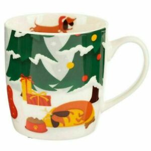 Dachshund Through The Snow Mug Christmas
