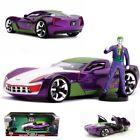 Chevy Corvette Stingray with Figure Joker Dc Comics Movie 1:24 Jada