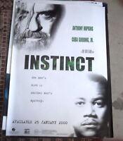 INSTINCT ANTHONY HOPKINS 1 SHEET MOVIE POSTER VIDEO DVD RELEASE