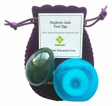 REAL Nephrite Yoni Kegel Jade Egg, Medium, Drilled, with String and Instructions