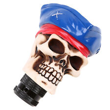 5 6 Speed Manual MT Gear Shift Knob Shifter Skeleton Cross Blue Hat For Subaru