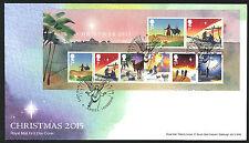 2015-NATALE MINI FOGLIO FDC Angel Londra N1 Postmark-inviato POST