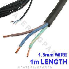 1 X Metro De 3 Core De 1.5 Mm h07rnf Caucho Negro De Red Flex Cable 3g 1.5 Para Freidoras