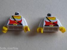 Lego 2 torses set 6285 6250 6251 6273 /2 white torso from minifig