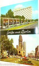 HILTON Gedächtniskirche Grüsse aus Berlin Ansichtskarte 50er 60er Jahre 26 å