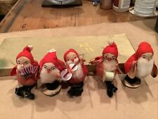 5 Vintage Elves in a Band - Roly Poly - Preowned - 2 1/2 Inches Tall