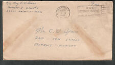 WWII cover A/C Ray C Williams Squadron I Group #1 AAFCC Nashville TN to Detroit