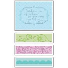 Sizzix Textured Impressions Embossing 4 Folders  'Wedding Set #3'   434574