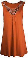 Neue Womens Plus Größe Stecker Halsausschnitt Top Damen Tunika Pullover 14-28