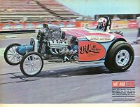 1970 Great Magazine Pic of The DiMatteo Bros. Roadster on One Wheel