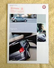 Vauxhall Signum range 2004 No1 inc Elite, Design & Elegance, 3.2-V6, 2.2-16v ect