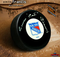 EMILE FRANCIS Signed New York Rangers Puck