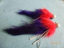 Steelhead Salmon Trout 3/8 oz Purple/.Red/ Pearl Head Twitching Jigs (X2)