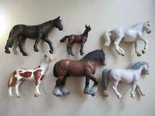 Schleich horses x 6 bulk lot shire stallion foal vintage