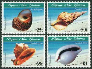 Papua New Guinea 984-987,MNH.Michel 873-876. Shells 2000.