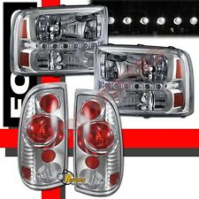 99-04 Ford F250 F350 SuperDuty Pickup LED Facelift Headlights + Tail Lights