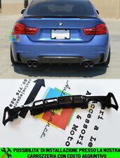 BMW SERIE 4 F32 F33 F36 2013+ SOTTO PARAURTI POSTERE DIFFUSORE ABS DOPPIO NERO