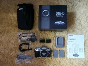 Olympus OM-D E-M10 Mark III Mirrorless 4K Silver Camera Body and Accessories
