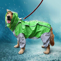Large Dog Raincoat Clothes Rain Coat Outdoor Clothes Hooded Jacket Waterproof