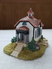 """Lilliput Lane Cottages """"Small Town Library"""" American Landmarks Collection 1992"""