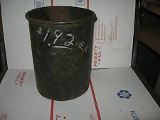 VINTAGE COPPER (??) TOTALLY DISTRESSED AWESOME WASTEBASKET-DISPLAY OR USE-GIFT*