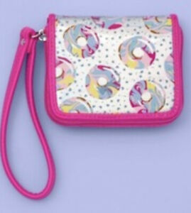 Girl's Square Iridescent Wallet Donuts More Than Magic New