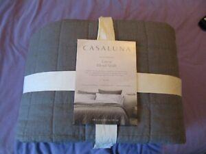 CASALUNA Heavyweight Linen Blend Quilt KING Dark Gray
