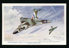 Military Aviation GLOSTER JAVELIN Artist Bannister c1950/60s? PPC