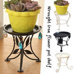 Metal Outdoor Indoor Flower Pot Plant Stand Garden Luxurious Flower Decor Rack