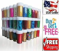 10 Colors Nail Art Stickers Tips Wraps Transfer Foil  BUY2GET1FREE-A--USA
