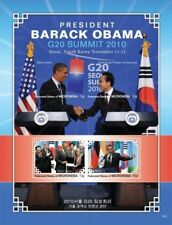 Micronesia- President Barack Obama Visits South Korea Sheet of 4 stamps