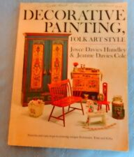 1971 Decorative Painting Folk Art Style by Hundley Cole Traditional Tole Craft