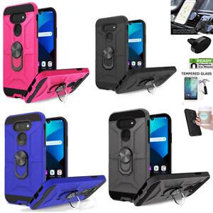 Phone Case For LG Premier Pro Plus / Harmony 4 shock absorbing Cover Ring Holder