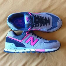 New Balance Grey And Pink Classic Trainers