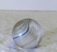 #12836m Vintage German Handmade Latticino Swirl Marble .55 Inches