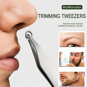 Universal Nose Hair Trimming Tweezers Stainless Steel Eyebrow Nose Hair Cut