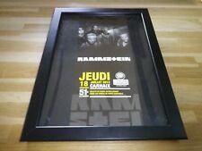 RAMMSTEIN - Concert 2013 - PUB ORIGINALE ENCADREE !! ORIG ADVERT FRAMED