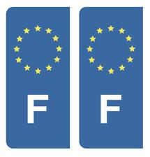 Autocollant Stickers plaque d'immatriculation véhicule F France Europe Union EU