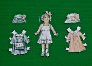 Wickerville Miniature 1 Inch Paper Doll
