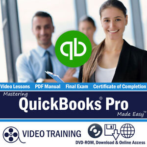 QUICKBOOKS PRO 2015 2014 2013 Training Tutorial DVD and Digital Course 9 Hours