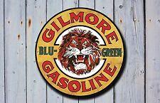 Gilmore Benzina Metallo Segno, Pubblicità, GAS, OLIO, VINTAGE, decorazioni per garage, 914