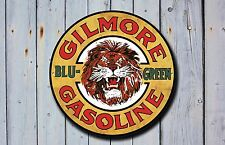 Gilmore Gasoline Metal Sign, Advertising, Gas, Oil, Vintage, Garage Decor, 914