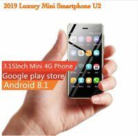 Super Mini 4G Smartphone U2 Ultra Thin 3.15 In Android 8.1 Google Play 1GB+8GB