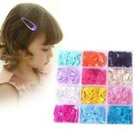 50Pcs Candy Color Baby Girls Hairpin Barrette Cute -Clips Kids Gifts -Great Z9Z1