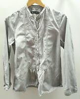 Pret Grey Blouse Size 12 <J1745
