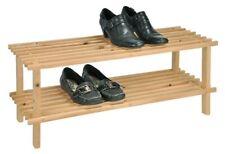 Armoire à Chaussures Étagère en Bois Rangement Support pour Avec 2 Etages