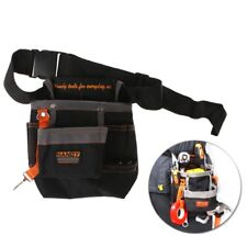 8 Pocket Tool Belt Electrician Tool Pouch W/Adjustable Belt Maintenance Tool Bag