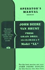 JOHN DEERE VanBrunt Grain Drill LL  Operators Manual